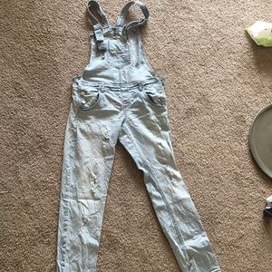 Denim - Distressed Nordstrom overalls